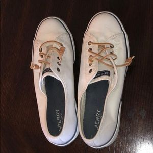 sperry brand boat sneakers.